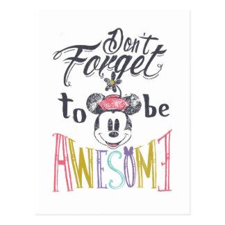 Minnie el | no olvida ser impresionante tarjeta postal