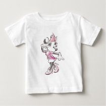 Minnie | Elegant Pose Watercolor Baby T-Shirt