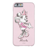 Minnie | Elegant Pose Watercolor Barely There iPhone 6 Case