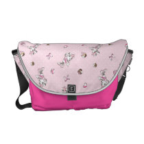 Minnie | Elegant Pose Watercolor Messenger Bag