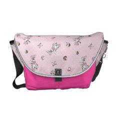 Minnie | Elegant Pose Watercolor Messenger Bag at Zazzle