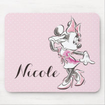 Minnie | Elegant Pose Watercolor Mouse Pad