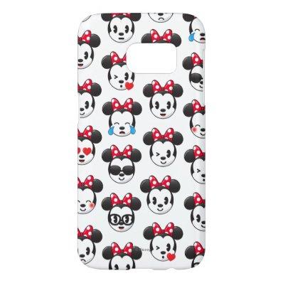 Minnie Emoji Land Pattern Samsung Galaxy S7 Case