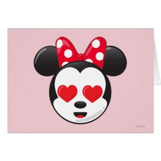 Minnie en amor tarjeta de felicitación