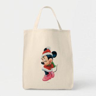 Minnie en equipo del día de fiesta bolsa tela para la compra