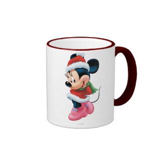 Minnie en equipo del día de fiesta taza a dos colores