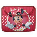 Minnie Flower Frame Sleeve For MacBooks