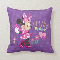 Minnie | Helping Heart Throw Pillow