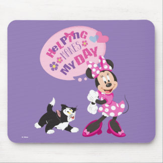 Minnie | Helping Makes My Day Mouse Pad