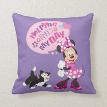 Minnie | Helping Makes My Day Throw Pillow