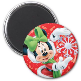 Minnie Holding Snowflake Refrigerator Magnet