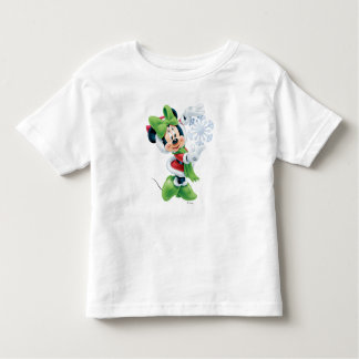 Minnie Holding Snowflake Toddler T-shirt