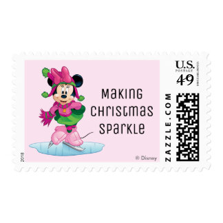 Minnie Ice Skating Postage
