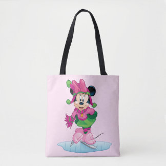 Minnie Ice Skating Tote Bag