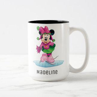 Minnie Ice Skating Two-Tone Coffee Mug