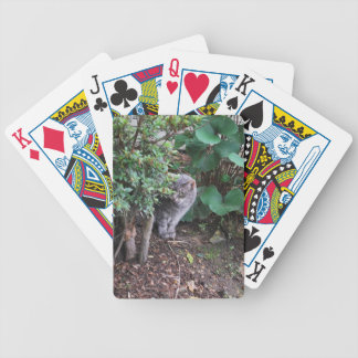 Minnie in the garden bicycle playing cards