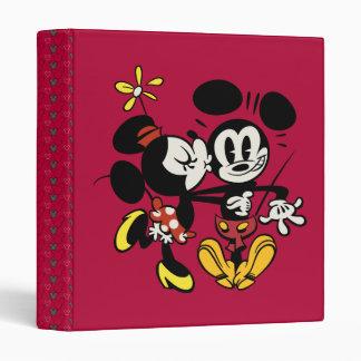 Minnie Kissing Mickey 3 Ring Binder