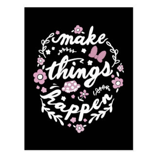 Minnie   Make Things Happen Postcard