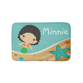 Minnie Mermaid Bathroom Mat