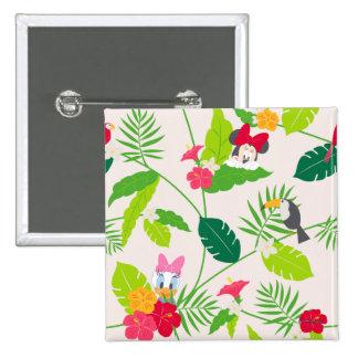 Minnie | Minnie Tropical Friends Pattern Pinback Button