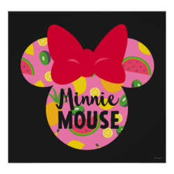 Minnie | Minnie Tropical Logo 4 Poster