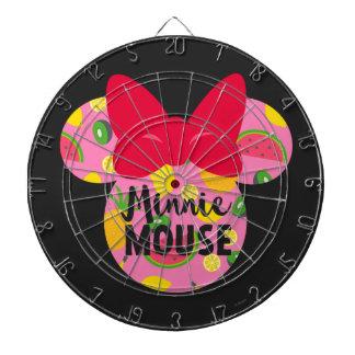 Minnie | Minnie Tropical Logo Dartboard With Darts