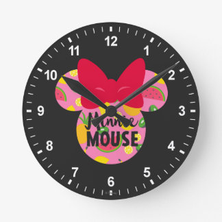Minnie | Minnie Tropical Logo Round Clock