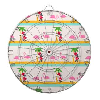 Minnie | Minnie's Tropical Pattern Dartboard With Darts