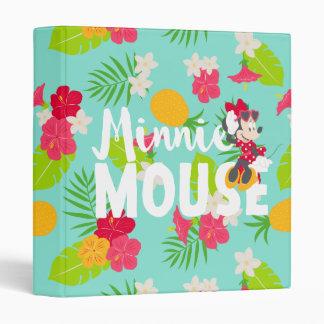 Minnie   Minnie's Tropical Pose 3 Ring Binder