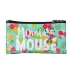 Minnie   Minnie's Tropical Pose Makeup Bag at Zazzle