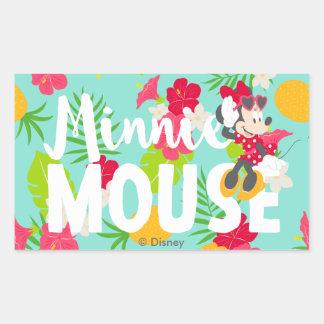 Minnie   Minnie's Tropical Pose Rectangular Sticker