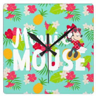 Minnie | Minnie's Tropical Pose Square Wall Clock