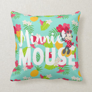 Minnie | Minnie's Tropical Pose Throw Pillow
