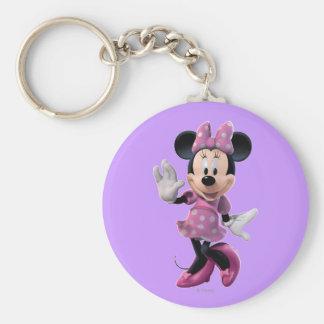 Minnie Mouse 1 Llavero Redondo Tipo Pin
