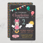 """Minnie Mouse 2nd Birthday Chalkboard Invitation<br><div class=""""desc"""">Invite all your family and friends to your child's Minnie Mouse themed 2nd Birthday Party with these chalkboard birthday invitations. Personalize by adding your party details.</div>"""