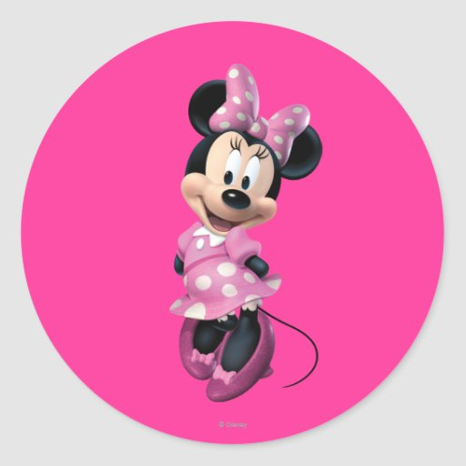 Minnie Mouse 3 Classic Round Sticker