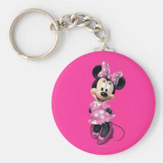 Minnie Mouse 3 Llavero Redondo Tipo Pin