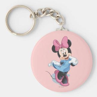Minnie Mouse 4 Llavero Redondo Tipo Pin