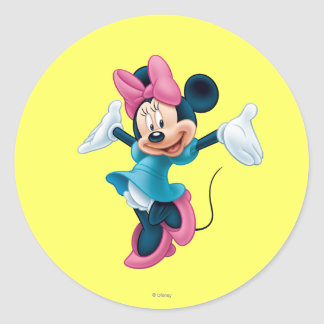 Minnie Mouse 8 Classic Round Sticker