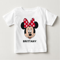 Minnie Mouse | Add Your Name Baby T-Shirt