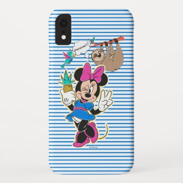 Minnie Mouse and Sloth   Photobomb iPhone XR Case