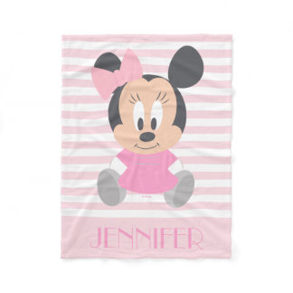 Minnie Mouse | Baby Minnie - Add Your Name Fleece Blanket