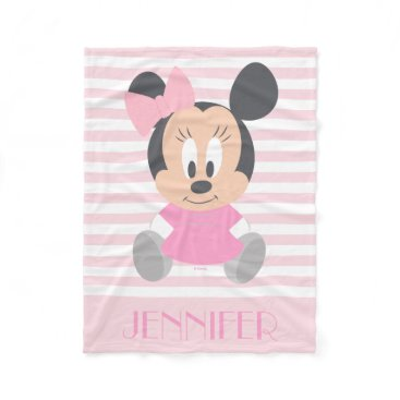 Disney Themed Minnie Mouse | Baby Minnie - Add Your Name Fleece Blanket