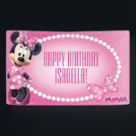 """Minnie Mouse Birthday Banner<br><div class=""""desc"""">Customize this cute Minnie Mouse Birthday banner with your child's name and age.</div>"""