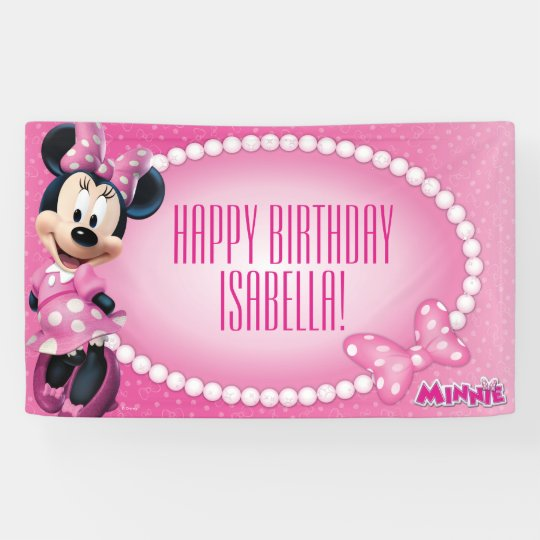 minnie mouse birthday banner zazzle com