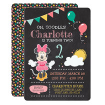 Minnie Mouse Birthday Chalkboard Card