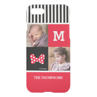 Minnie Mouse Bow | Add Photos & Monogram iPhone 8/7 Case