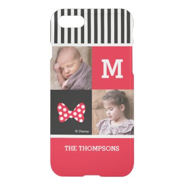 Disney Themed Minnie Mouse Bow | Add Photos & Monogram iPhone 8/7 Case