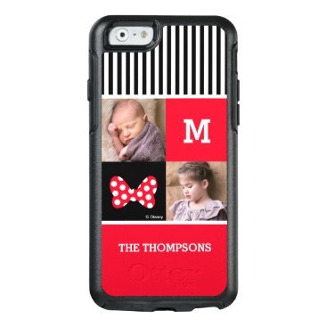 Disney Themed Minnie Mouse Bow | Add Photos & Monogram OtterBox iPhone 6/6s Case