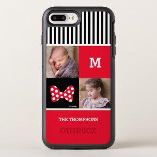 Minnie Mouse Bow | Add Photos & Monogram OtterBox Symmetry iPhone 7 Plus Case